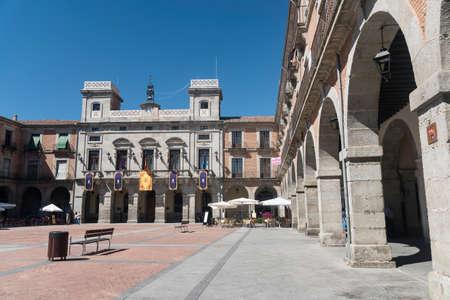 portico: Avila (Castilla y Leon, Spain): the historic market square Editorial