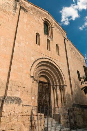 millan: Segovia (Castilla y Leon, Spain): exterior of the medieval church of San Millan Stock Photo