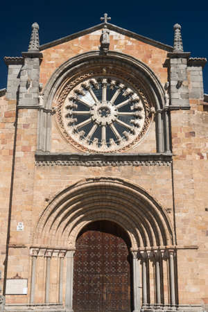 castilla: Avila (Castilla y Leon, Spain): facade of the historic Santa Teresa church