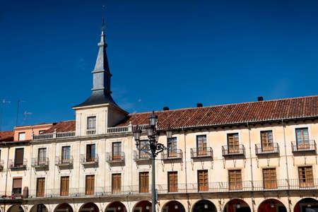 Leon (Castilla y Leon, Spain): historic buildings in Plaza Mayor, the main square of the city