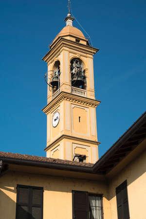Costa Lambro (Monza Brianza, Lombardy, Italy): exterior of the historic San Martino church Stock Photo