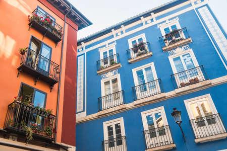 Burgos (Castilla y Leon, Spain): exterior of historic buildings along Calle Lain Calvo
