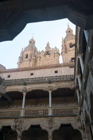 Salamanca (Castilla y Leon, Spain): courtyard of the historic palace known as Casa de las Conchas