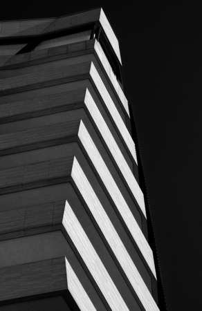 milánó: modern residential buildings . Black and white Stock fotó