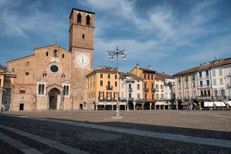 Lodi (Lombardy, Italy): the historic cathedral square (piazza del Duomo)