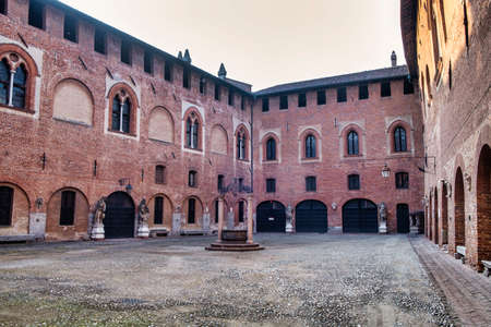 SantAngelo Lodigiano (Lodi, Lombardy, Italy): the medieval castle, the courtyard