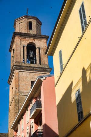 Fiorenzuola dArda (Piacenza, Emilia Romagna, Italy): historic cathedral (Duomo), belfry