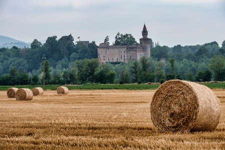 Rivalta Trebbia (Piacenza, Emilia Romagna, Italy): country landscape with the historic castle