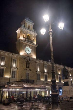 Parma (Emilia Romagna, Italy): the Garibaldi square at evening