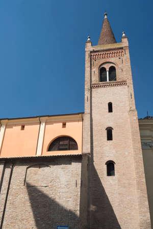 Forli (Emilia Romagna, Italy): ancient church of Santissima Trinita, exterior