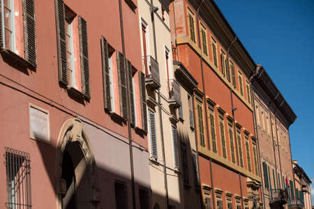 imola: Imola (Bologna, Italy): historic buildings along the via Emilia