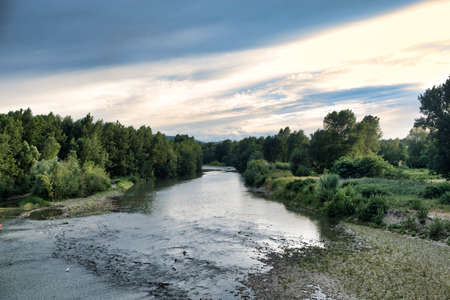 reno: The Reno river at Bologna (Emilia Romagna, Italy) at summer Stock Photo