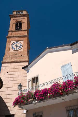 windows: Sogliano al Rubicone (Forli Cesena, Emilia Romagna, Italy), historic town Stock Photo