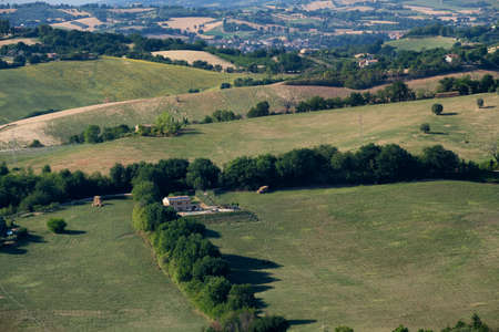 Rural landscape at summer near Barchi (Pesaro Urbino, Marches, italy)