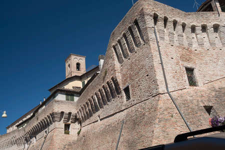 Jesi (Ancona, Marches, Italy): typical buildings along the historic walls
