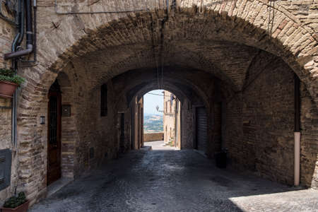SantElpidio a Mare (Fermo, Marches, Italy): historic town Stock Photo