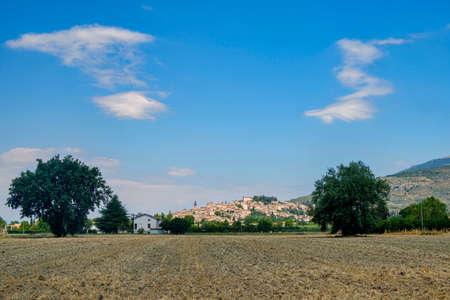 View of Spello, medieval city (Perugia, Umbria, italy) Stock Photo