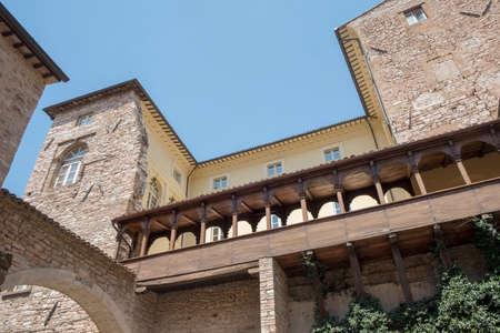 Historic buildings of Spello, medieval city (Perugia, Umbria, Italy)