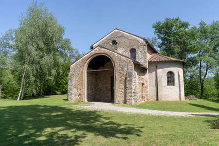 The archeological area of Castelseprio (Varese, Lombardy, Italy): ruins of a village destroyed in the 13th century.