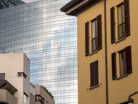 Milan, Lombardy, Italy: modern buildings at Gae Aulenti square