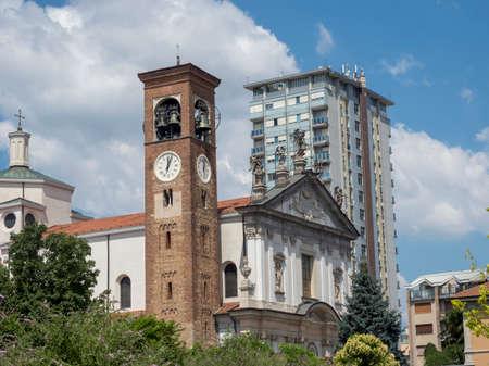 Busto Arsizio, Varese, Lombardy, Italy: the historic church of San Michele Arcangelo