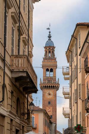 Casale Monferrato, Alessandria, Piedmont, Italy: the municipal tower, medieval monument