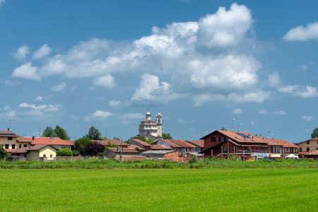 San Silvestro, old village near Crescentibo, Vercelli, Piedmont, Italy