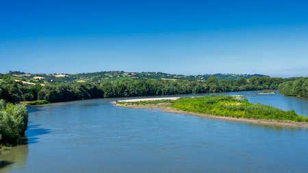 Casale Monferrato, Alessandria, Piedmont, Italy: the Po river at summer