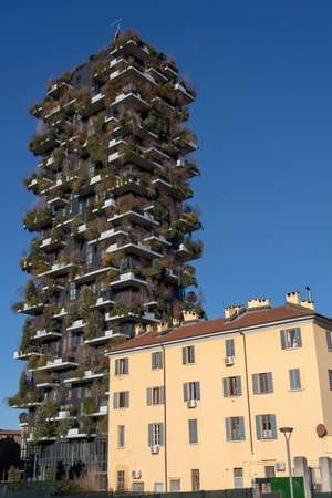 Milan, Lombardy, Italy: modern buildings near the new Gae Aulenti square known as Bosco Verticale