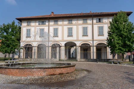 Usmate Velate, Monza Brianza, Lombardy, Italy: exterior of the historic Villa Scaccabarozzi