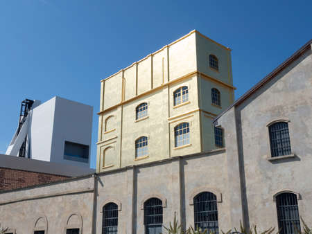 Milan, Lombardy, Italy: historic restored buildings at Fondazione Prada
