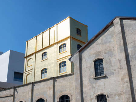 Milan, Lombardy, Italy: historic and modern buildings at Fondazione Prada