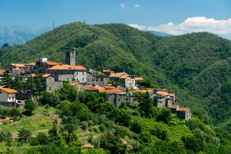 Marciaso, Massa Carrara, Tuscany, Italy, historic village in Lunigiana Stock Photo