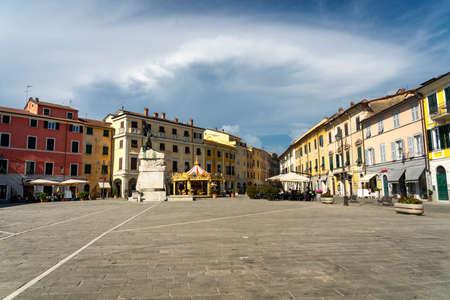 Sarzana, La Spezia, Liguria, Italy: the main town square