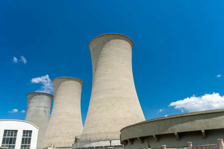 Geothermal plant at Larderello, near Pomarance, Pisa, Tuscany, Italy