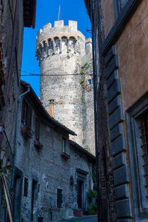Bracciano, Roma, Lazio, Italy: exterior of the medieval castle Orsini-Odescalchi at morning