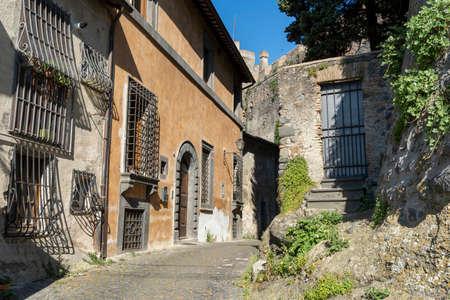 Bracciano, Roma, Lazio, Italy: the medieval town with the castle