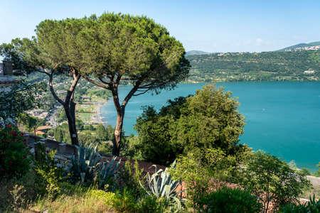 The Albano lake seen from Castel Gandolfo, Rome, Lazio, Italy, at summer