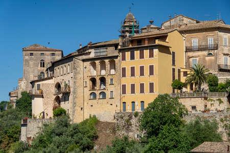 Arpino, Frosinone, Lazio, Italy: the historic town at morning