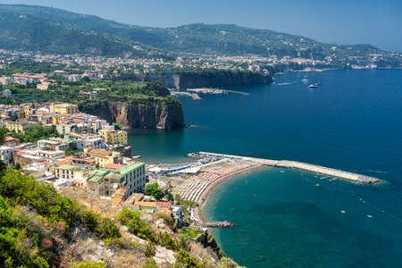 Meta di Sorrento, Naples, Campania, Italy: view of the coast at summer