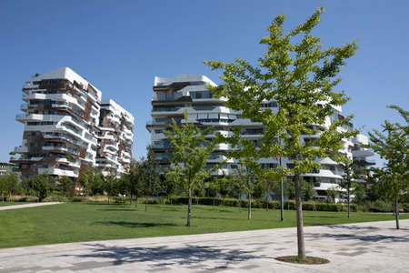 Hadid residential buildings at Citylife park, in Milan, Lombardy, Italy