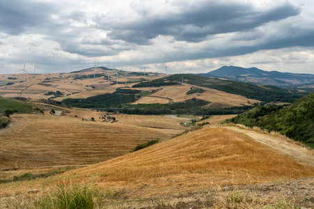Rural landscape near Candela, Foggia, Apulia, Southern Italy, at summer