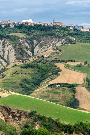 Natural Park of Atri, Teramo, Abruzzo, Italy: landscape of calanques at summer