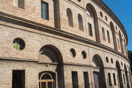 Macerata, Marches, Italy: exterior of the historic theatre known as Sferisterio
