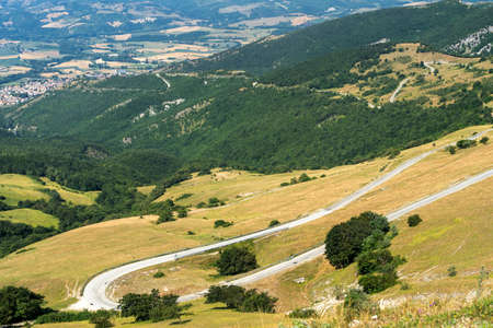 Mountain landscape near the Monte Cucco, between Marche and Umbria, Italy, at summer