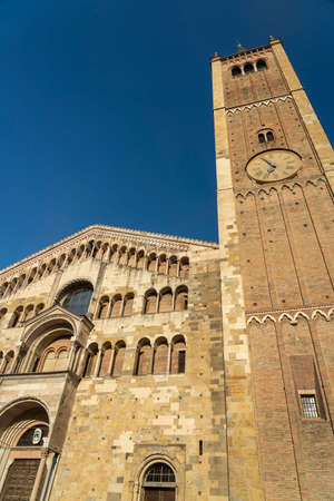 Exterior of the medieval cathedral (Duomo) of Parma, Emilia-Romagna, Italy