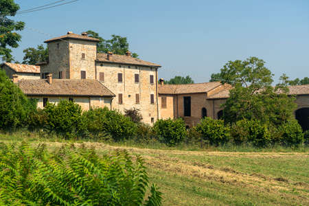 Rural landscape near Medesano, in Parma province, Emilia-Romagna, Italy, at summer