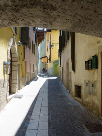 Nago, Trento, Trentino Alto Adige, Italy: typical street of the old town