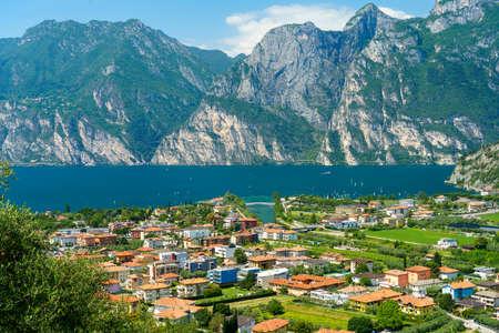 The Garda lake at Torbole, Trento, Trentino Alto Adige, Italy, at summer