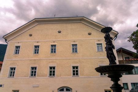 Glorenza, or Glurns, Bolzano, Trentino Alto Adige, Italy: historic city in the Venosta valley .. Old house
